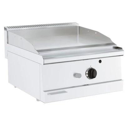 Grillplatte mit Chromoberfläche Gasmodell Tischgerät breite Ausführung
