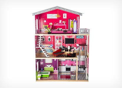31 Best Dollhouses Every Girl Would Love  For All Budgets    Toy Notes MMP Living Modern Wooden Dollhouse Set