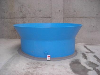 富山市流杉場市場/ポリ粉体(青色)で日本最大口径 1600A