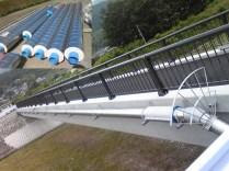山梨県南アルプス市/大和川橋添架(内管:ポリエチレン粉体鋼管 外管:SUS(SDP)) 100A