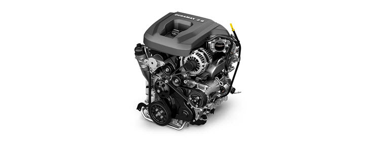 Image of the Duramax 2.8L I-4 Turbo Diesel engine available for the 2017 GMC Canyon small pickup truck.