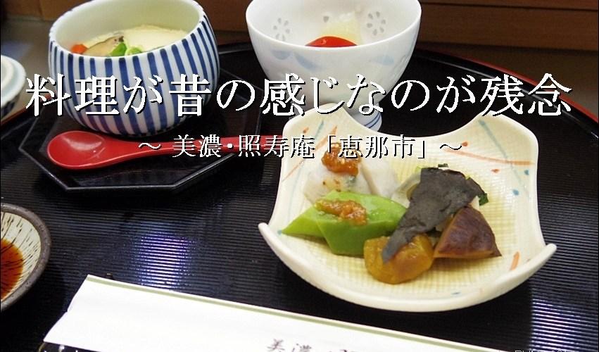 立派な店だが料理が昔のままなのが残念「照寿庵」【恵那市】