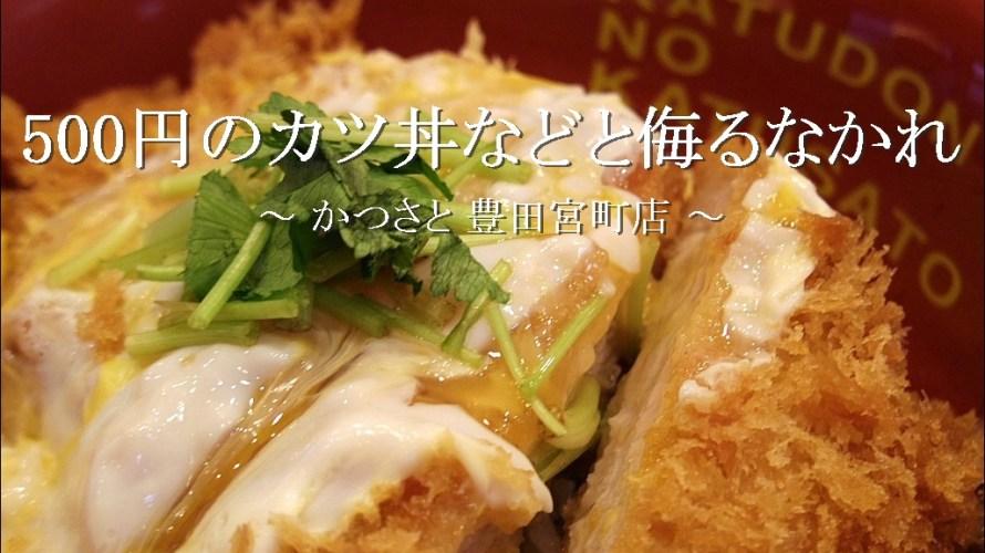 500円のカツ丼などと侮るなかれ「かつさと」【豊田市】