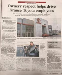 Kraus Toyota Found in The Morning Call