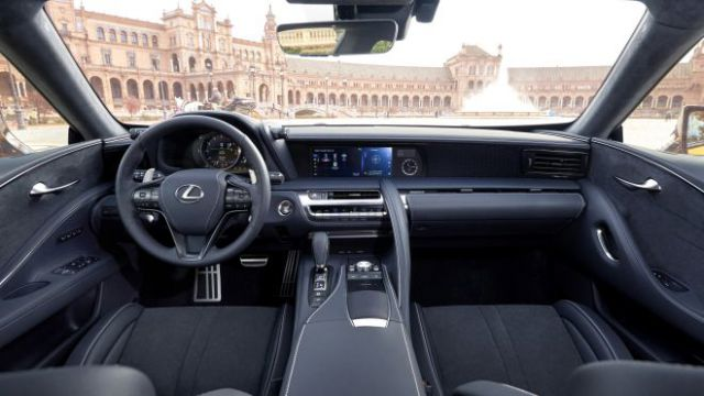 2018 Lexus LC TRD interior view