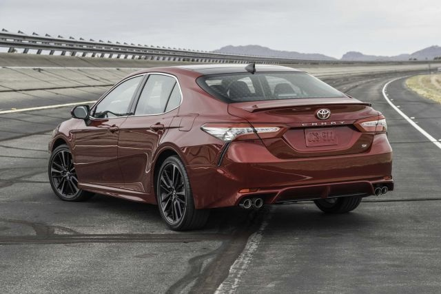 2018 Toyota Camry SE rear view
