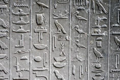 NECRÓPOLIS DE SAQQARA geroglíficos hieroglyphic