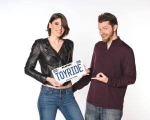 Image of Nikki & Daniel with Toyride license plate