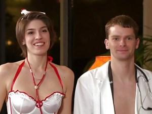 Photo of Nikki & Daniel in Doctors & Nurses theme attire from Swing newbie episode