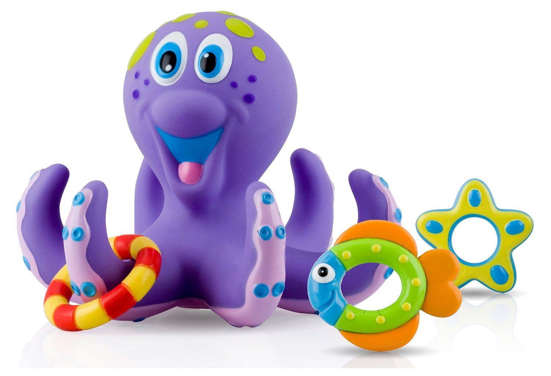 81g8LWaWFHL. SL1500  - Nuby Octopus Hoopla Bathtime Fun Toys, Purple