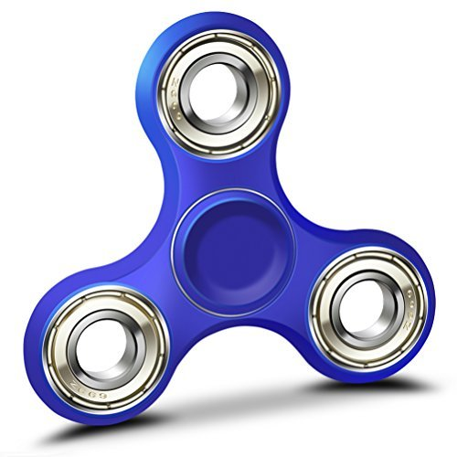 51BK0YZYnNL - GongFu Star Fidget Spinner Toy Time Killer Perfect to relieve ADHD Anxiety Reduce Stress Helps Focus (Blue)