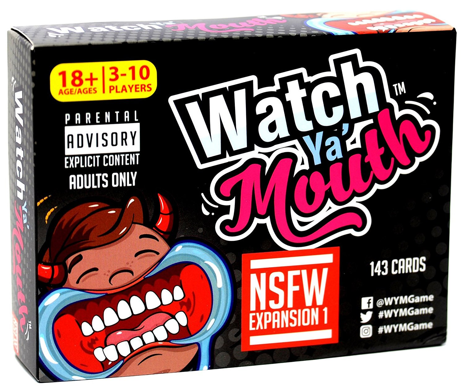81goC2Nj4lL. SL1500  - Watch Ya' Mouth Adult Phrase Card Game Expansion Pack