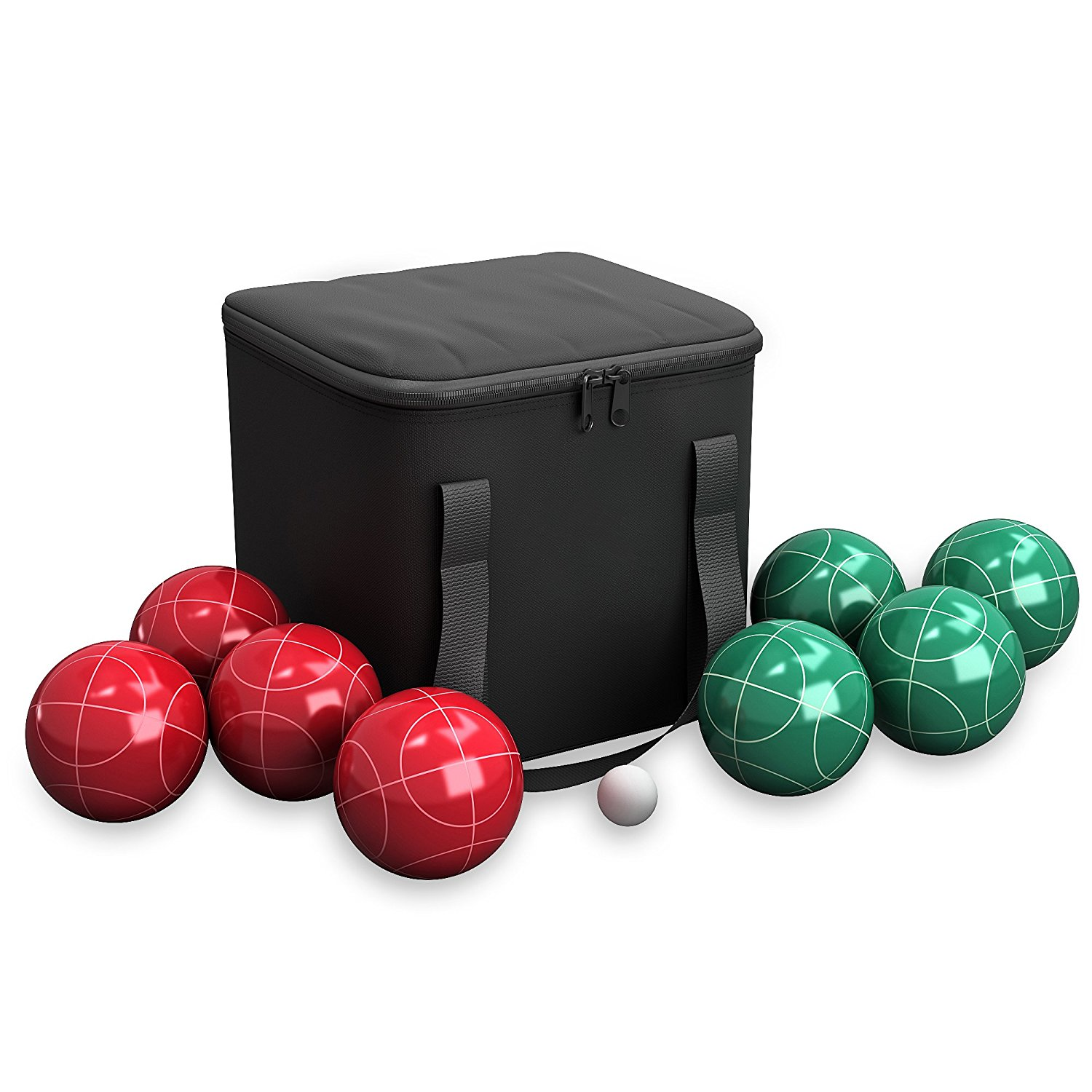 81gwGpmy9mL. SL1500  - Trademark Games 9 Piece Bocce Ball Set with Easy Nylon Carry Case
