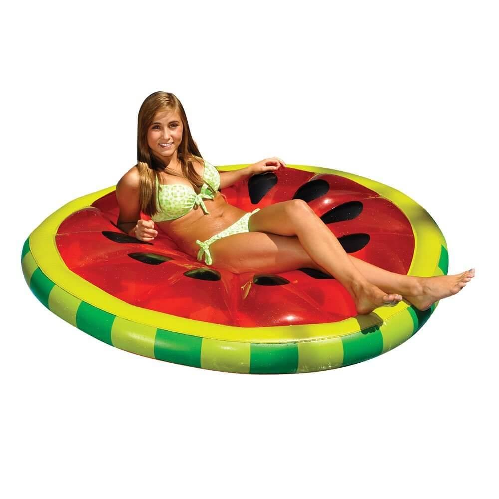 612LikStNkL. SL1000  - Swimline Watermelon Slice Island Inflatable Raft
