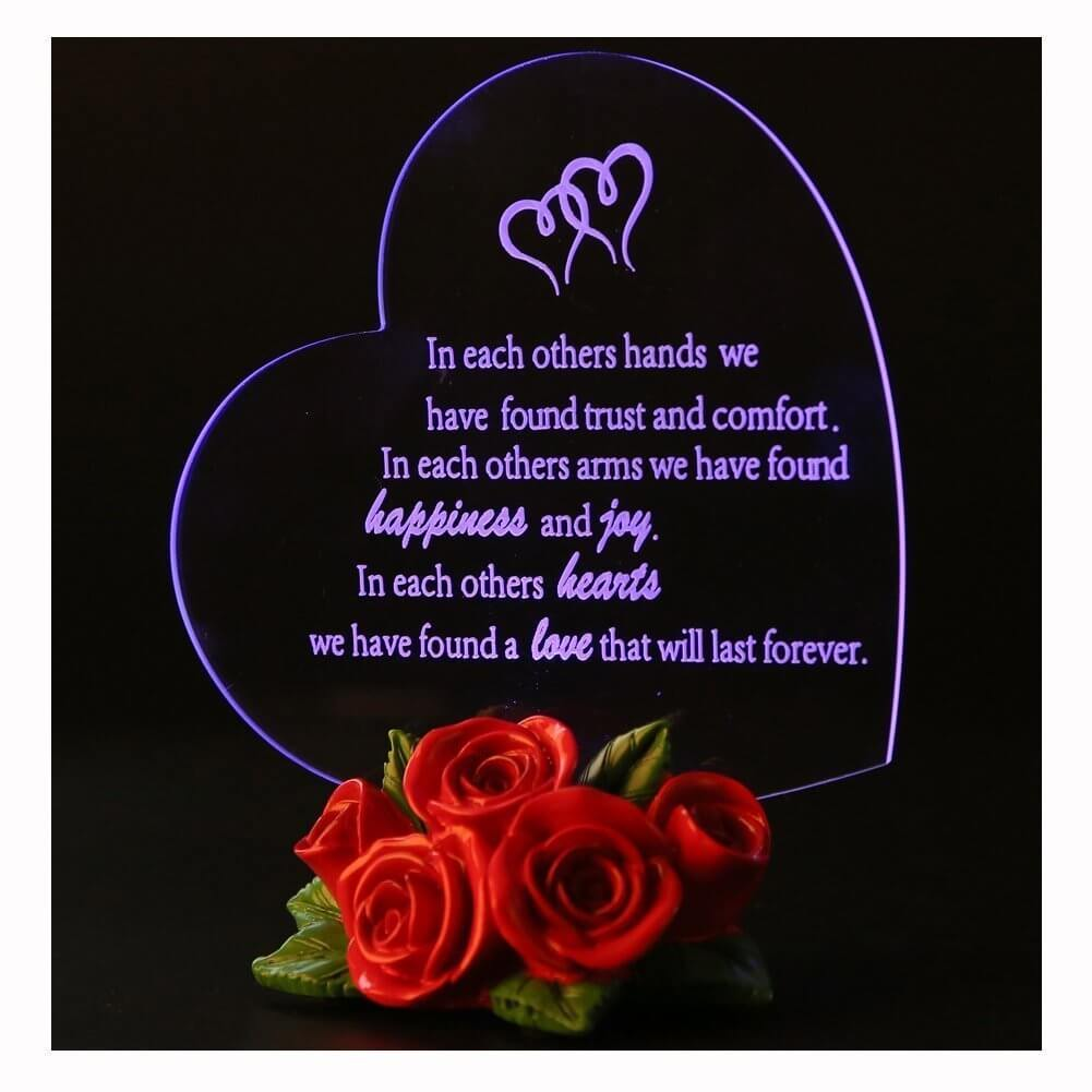61wIMolhKBL. SL1001  - Gift Garden Heart Shaped LED Light