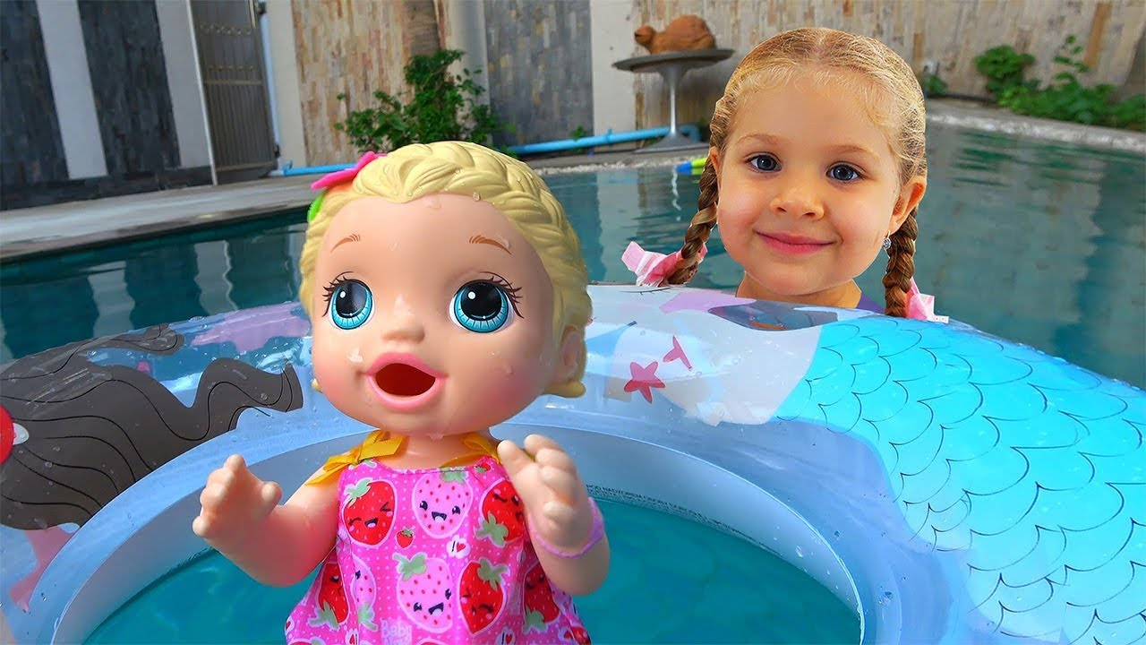 My super fun day with Baby Doll Roma and Diana pretend play with toys for girls - My super fun day with Baby Doll, Roma and Diana pretend play with toys for girls