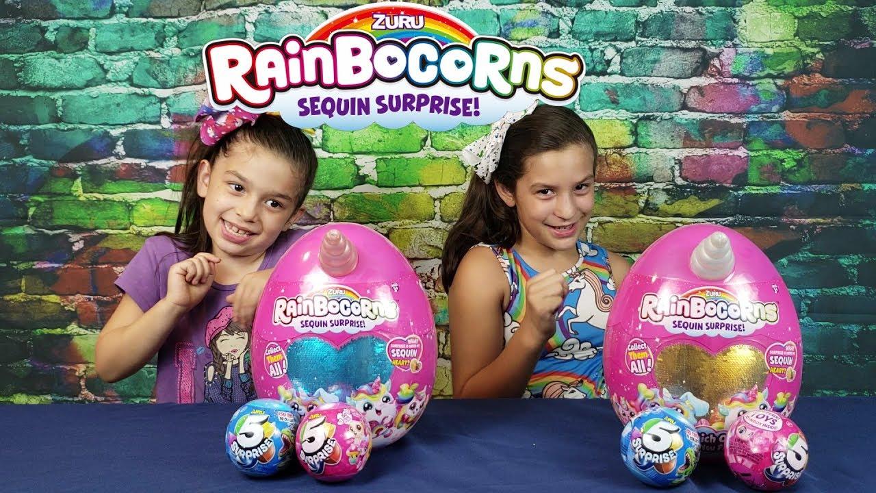 RAINBOCORNS Sequin Surprise Plush Toy ZURU - RAINBOCORNS   Sequin Surprise Plush Toy   ZURU