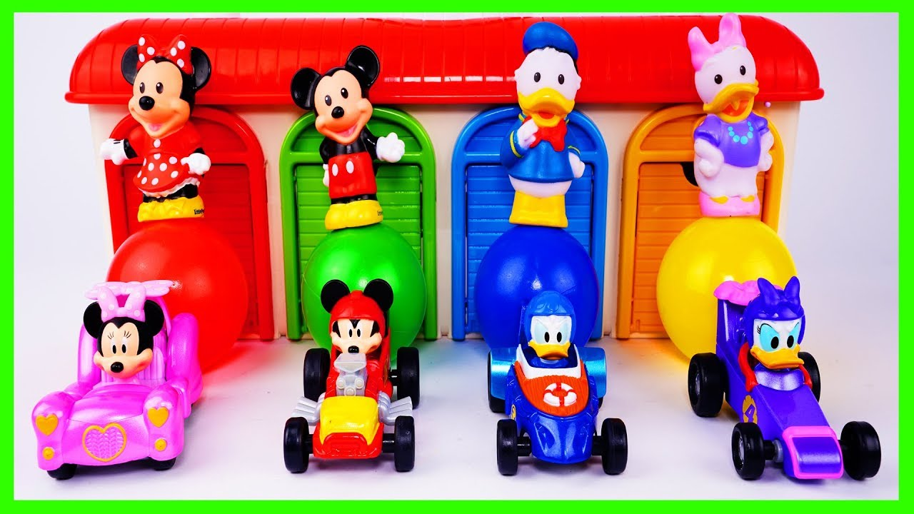 Learn Colors and Transform Mickey and the Roadster Racer Car Toys in Pretend Garage Toy for Toddlers - Learn Colors and Transform Mickey and the Roadster Racer Car Toys in Pretend Garage Toy for Toddlers
