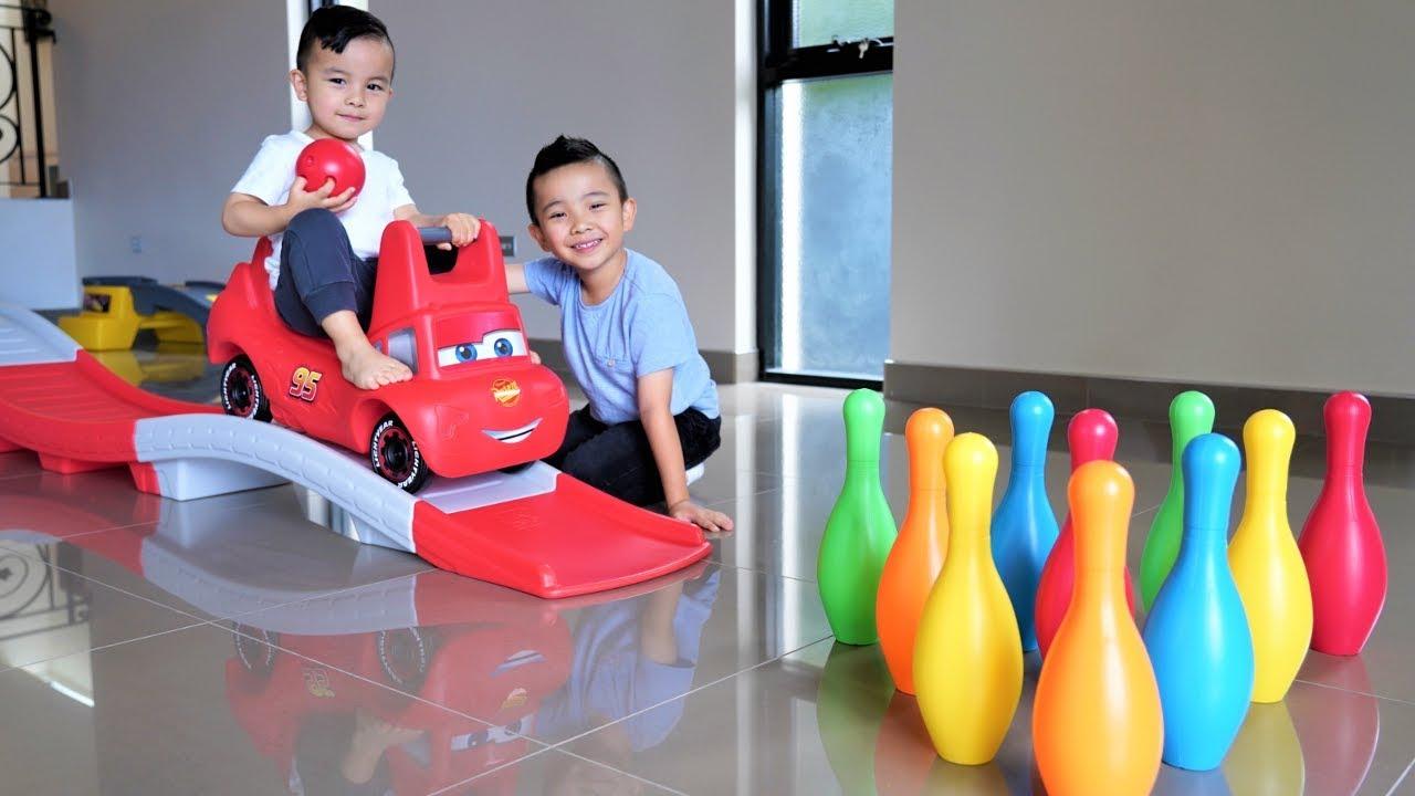 Disney Cars Thomas Indoor Bowling Fun Playtime With Ckn Toys - Disney Cars Thomas Indoor Bowling Fun Playtime With Ckn Toys