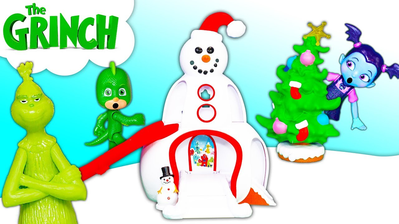 The Grinch Whoville Town Center Toy with Vampirina and PJ Masks Catboy and Romeo - The Grinch Whoville Town Center Toy with Vampirina and PJ Masks Catboy and Romeo
