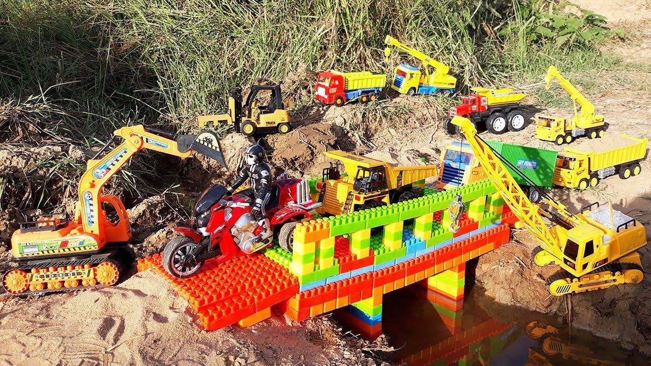 Build Bridge Blocks Toys for Children Construction Vehicles Toy Cars for Kids - Build Bridge Blocks Toys for Children   Construction Vehicles Toy Cars for Kids