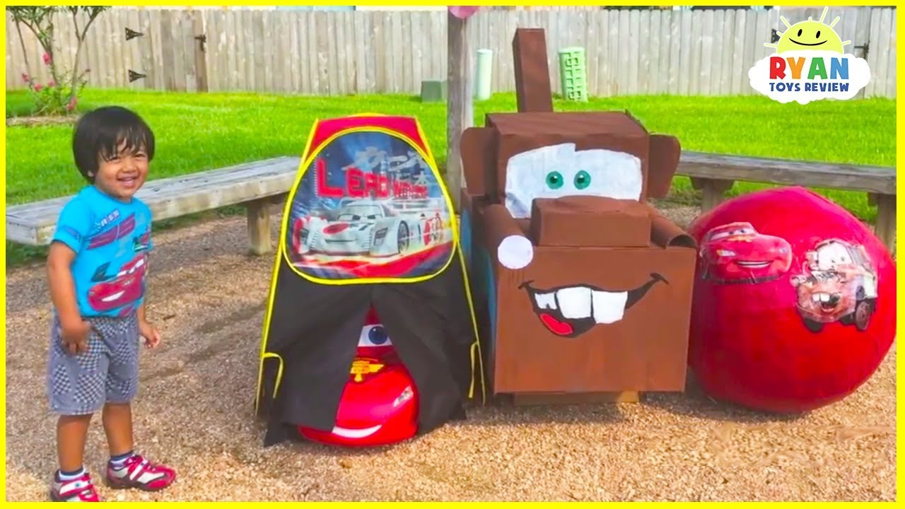 Lightning McQueen Giant Egg Surprise with Disney Cars Toys for kids - Lightning McQueen Giant Egg Surprise with Disney Cars Toys for kids