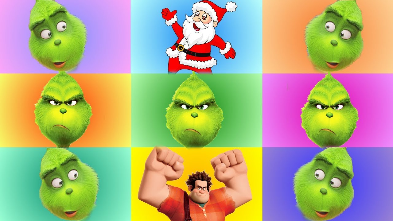 The Grinch and Wreck It Ralph Color Game with Incredibles 2 Christmas Toys from Santa - The Grinch and Wreck It Ralph Color Game with Incredibles 2 Christmas Toys from Santa