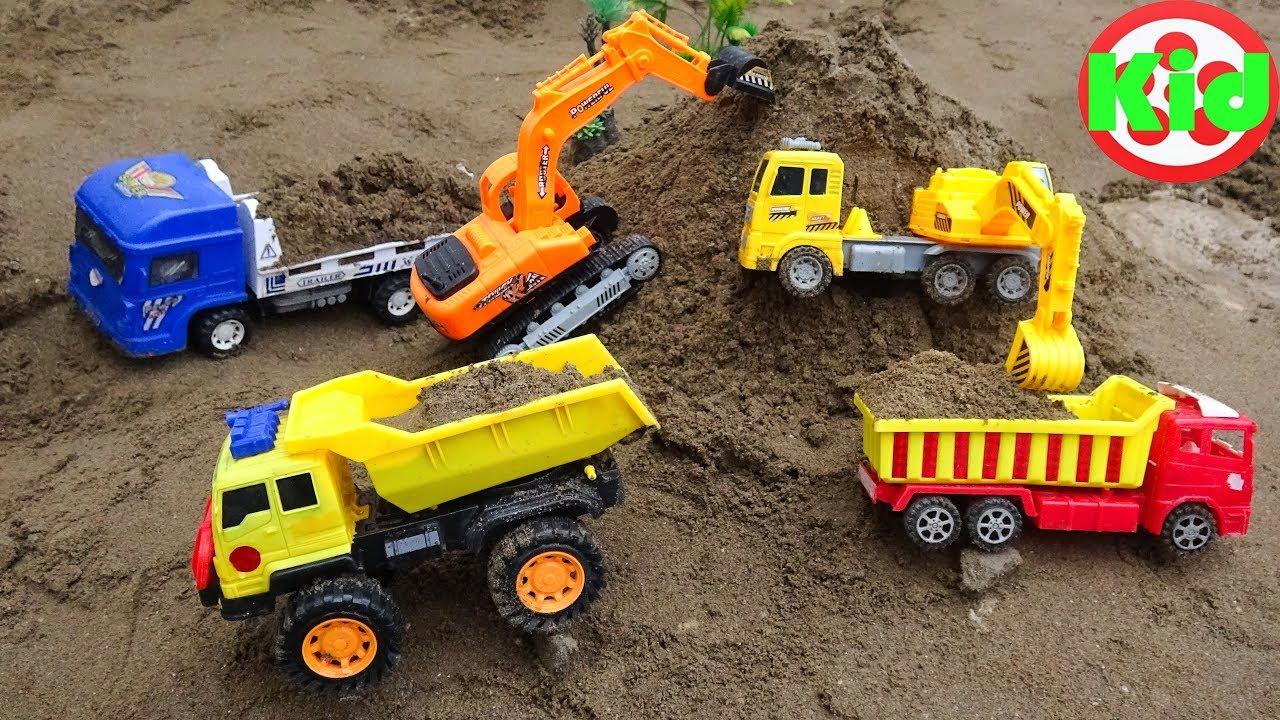 Toy Cars For Kids Excavator Dump Truck Road Roller Construction Vehicles Toys for Children I64C - Toy Cars For Kids | Excavator Dump Truck Road Roller Construction Vehicles Toys for Children I64C