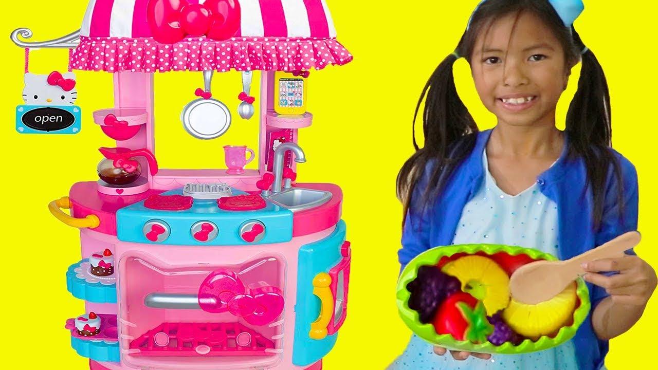 Wendy Pretend Play w Hello Kitty Kitchen Tea Party Kids Food Toys - Wendy Pretend Play w/ Hello Kitty Kitchen &Tea Party Kids Food Toys