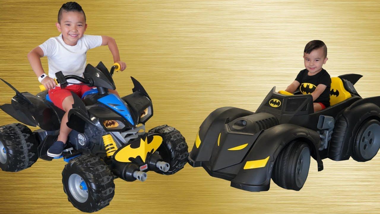 Batmobile Bat Bike Ride On Cars kids Racing Fun With Ckn Toys - Batmobile Bat Bike Ride On Cars kids Racing Fun With Ckn Toys