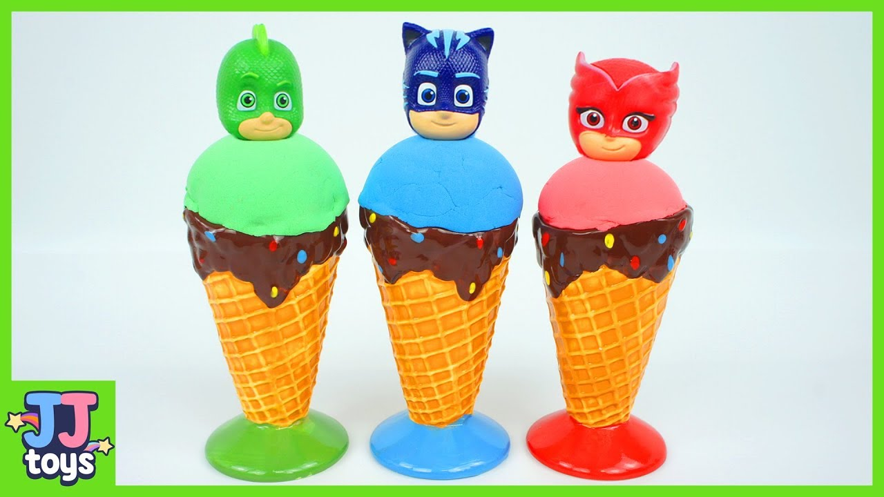 vbp 12017 Learn color with PJ Masks Ice cream Kinetic sand. Luna Girl is greedy. JJ toys - Learn color with PJ Masks Ice cream Kinetic sand. Luna Girl is greedy.  [JJ toys]