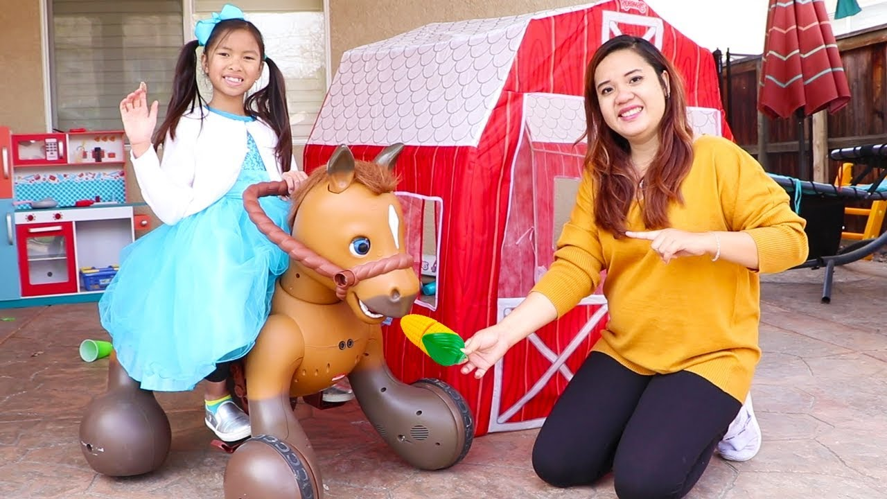 vbp 12044 Wendy Pretend Play w Ride On Horse Toy - Wendy Pretend Play w/ Ride On Horse Toy