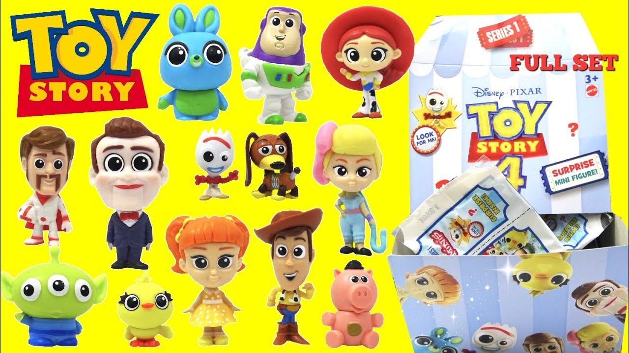 Disney Pixar Toy Story 4 Surprise Mini Figure Series 1 Rare Forky Bunny Ducky - Disney Pixar Toy Story 4 Surprise Mini Figure! Series 1 Rare Forky, Bunny & Ducky