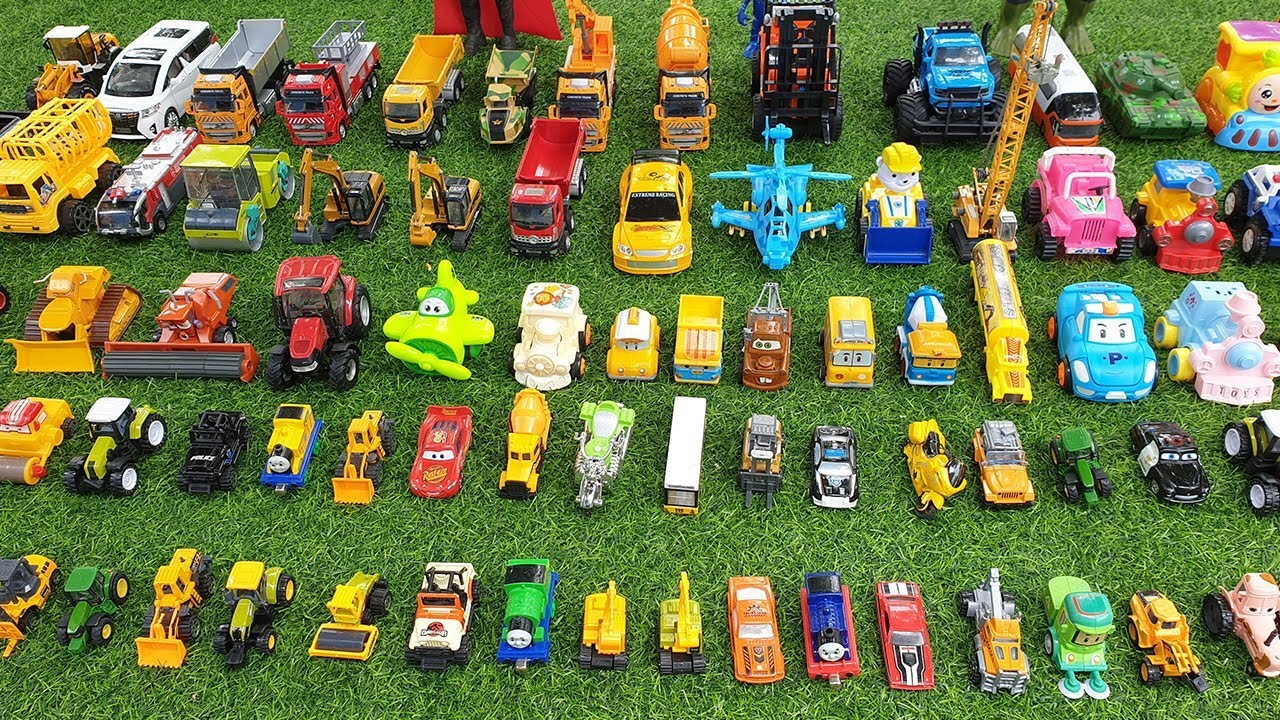 Dump Truck Tractor Excavator Cars Toys for Kids Learn Car Names With Toys for Children - Dump Truck, Tractor, Excavator Cars Toys for Kids Learn Car Names With Toys for Children