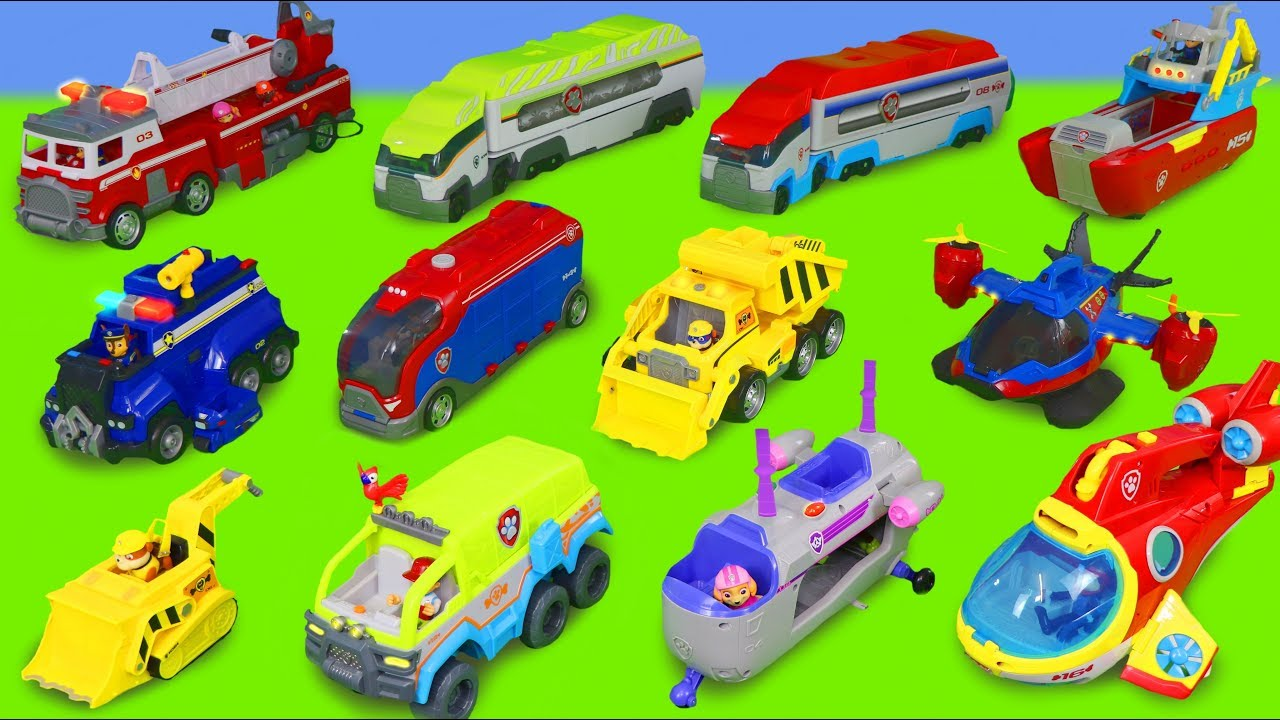 Paw Patrol Toy Vehicles Fire Truck Excavator Cars Trucks Train Pup Toys for Kids - Paw Patrol Toy Vehicles: Fire Truck, Excavator, Cars, Trucks & Train Pup Toys for Kids