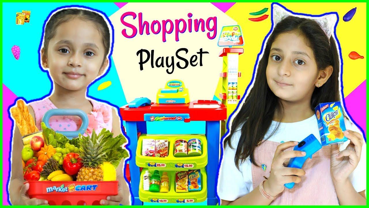 Anantya Anaya PRETEND PLAY with Shopping Set... Toys Review MyMissAnand ToyStars - Anantya & Anaya PRETEND PLAY with Shopping Set...   #Toys #Review #MyMissAnand #ToyStars