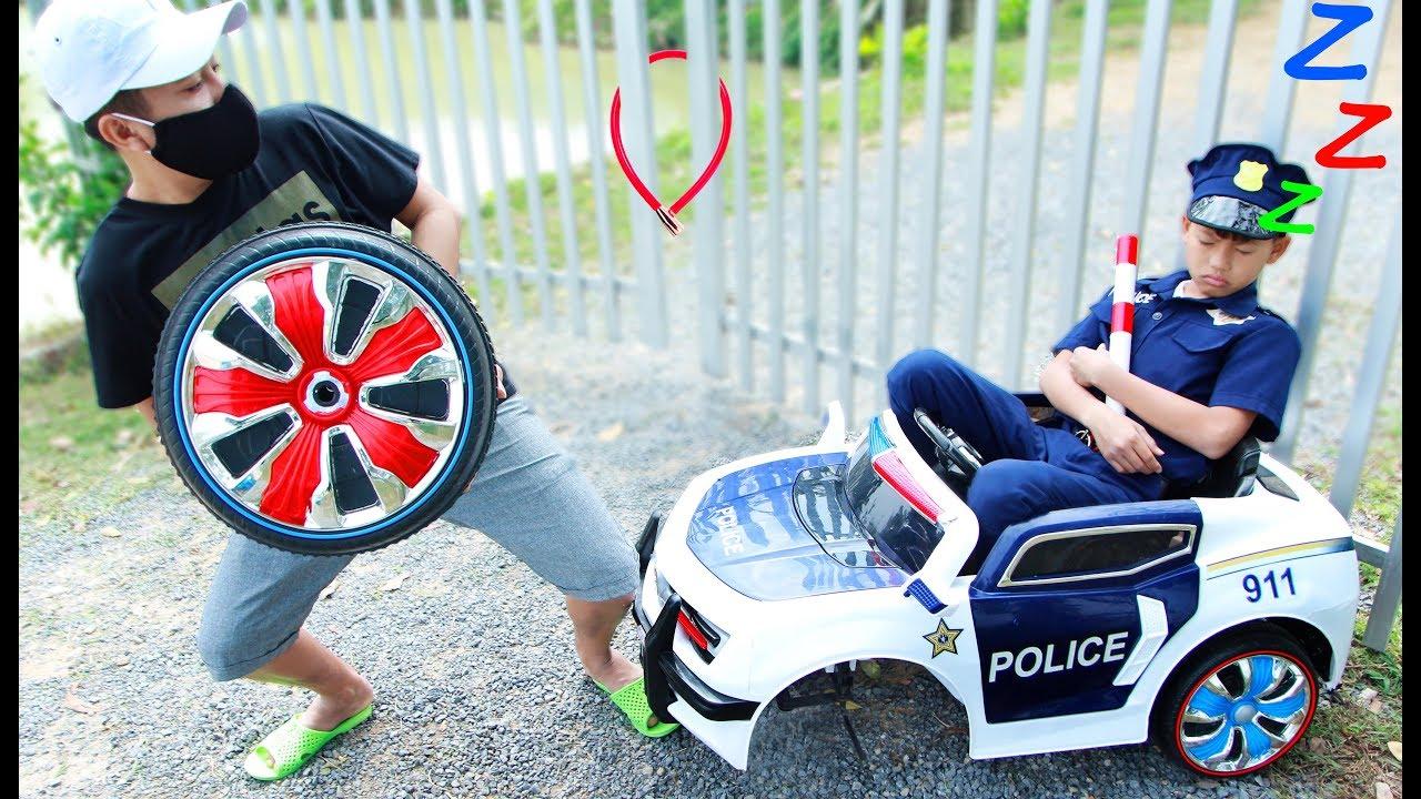 Kudo play police car toys power wheels fun playtime - Kudo play police car toys power wheels fun playtime