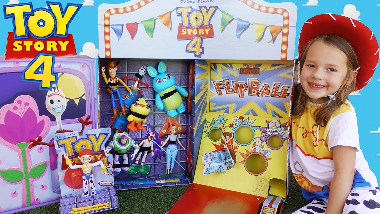 TOY STORY 4 Box Carnival With Buzz Lightyear Woody Games - TOY STORY 4 Box Carnival With Buzz Lightyear & Woody Games