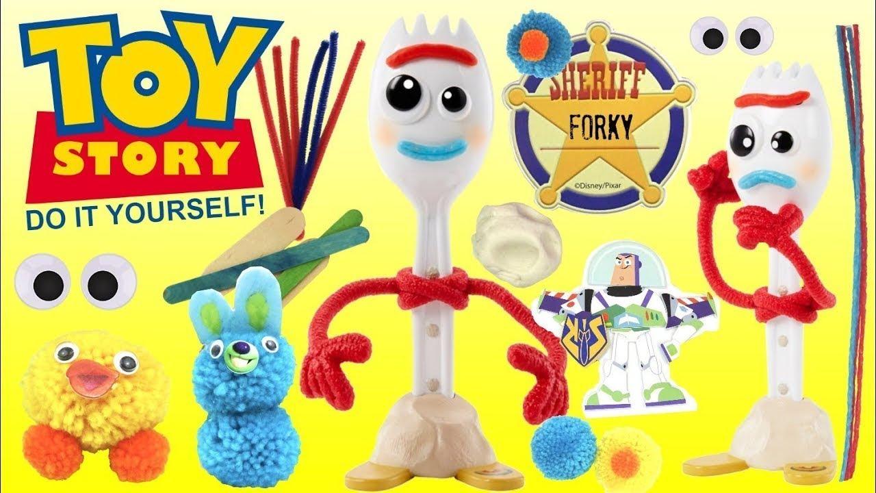 DIY Como Hacer FORKY Toy Story 4 con Buzz Lightyear Ducky Bunny Actividad Simple para Los nios - DIY Como Hacer FORKY Toy Story 4 con Buzz Lightyear, Ducky, Bunny Actividad Simple para Los niños
