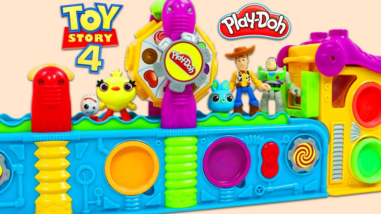 Disney Pixar Toy Story 4 Friends Visit the Play Doh Mega Fun Factory Playset for Surprise Toys - Disney Pixar Toy Story 4 Friends Visit the Play Doh Mega Fun Factory Playset for Surprise Toys!