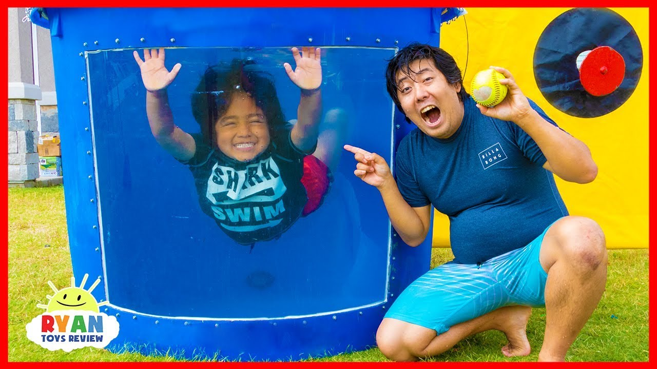 Dunk Tank Challenge Family Fun Games with Ryan ToysReview - Dunk Tank Challenge Family Fun Games with Ryan ToysReview!!!