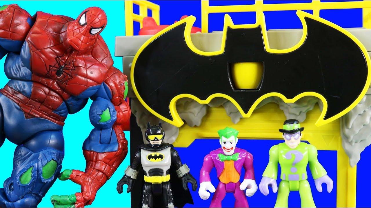 Spiderhulk Spider man Battle Batman Imaginext Gotham City Tower Superhero Toys - Spiderhulk Spider-man Battle + Batman Imaginext Gotham City Tower ! Superhero Toys