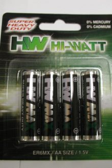 BATTERIES AA SIZE 4 pack