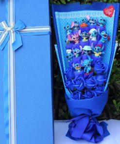 Lilo Stitch Cartoon Bouquet for Birthday Christmas valentines Gift