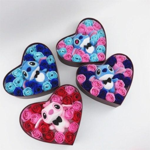 heart stitch flower gift box birthday valentine's day gift