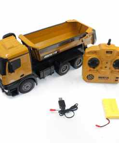 HUINA    CH Alloy RC Dump Trucks Toy Engineering Construction Remote Control Car Vehicle