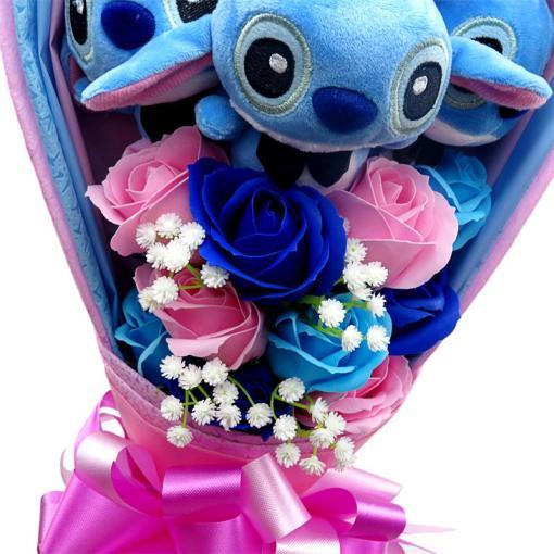 Kawaii Stitch Plush Toys cartoon bouquet gift box stuffed animals wedding gifts Christmas Valentine s Day