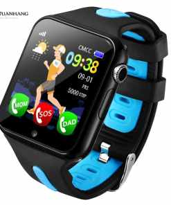 Smart GPS Wifi Location Student Kids Phone Watch Android System Clock App Install Bluetooth Remote Camera