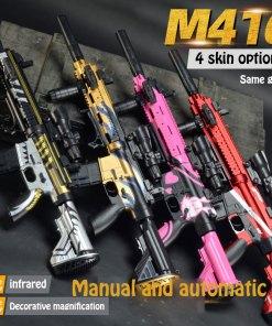 Manual Electric Free Switching Water Bullet Gun M Infrared Water Darts Gun Toy Boys Sniper Rifle