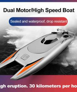 G Remote Control Boat Speedboat Yacht Children Competition Boat Water Toy km Per Hour Waterproof